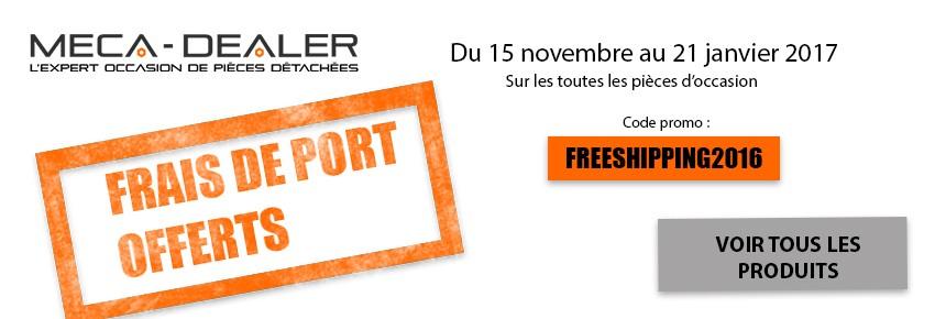 Bannière promotionnelle: frais de port offert pour tout achat de pièce d'occasion Iveco.